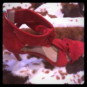 Vince Camuto Red Suede Sandals